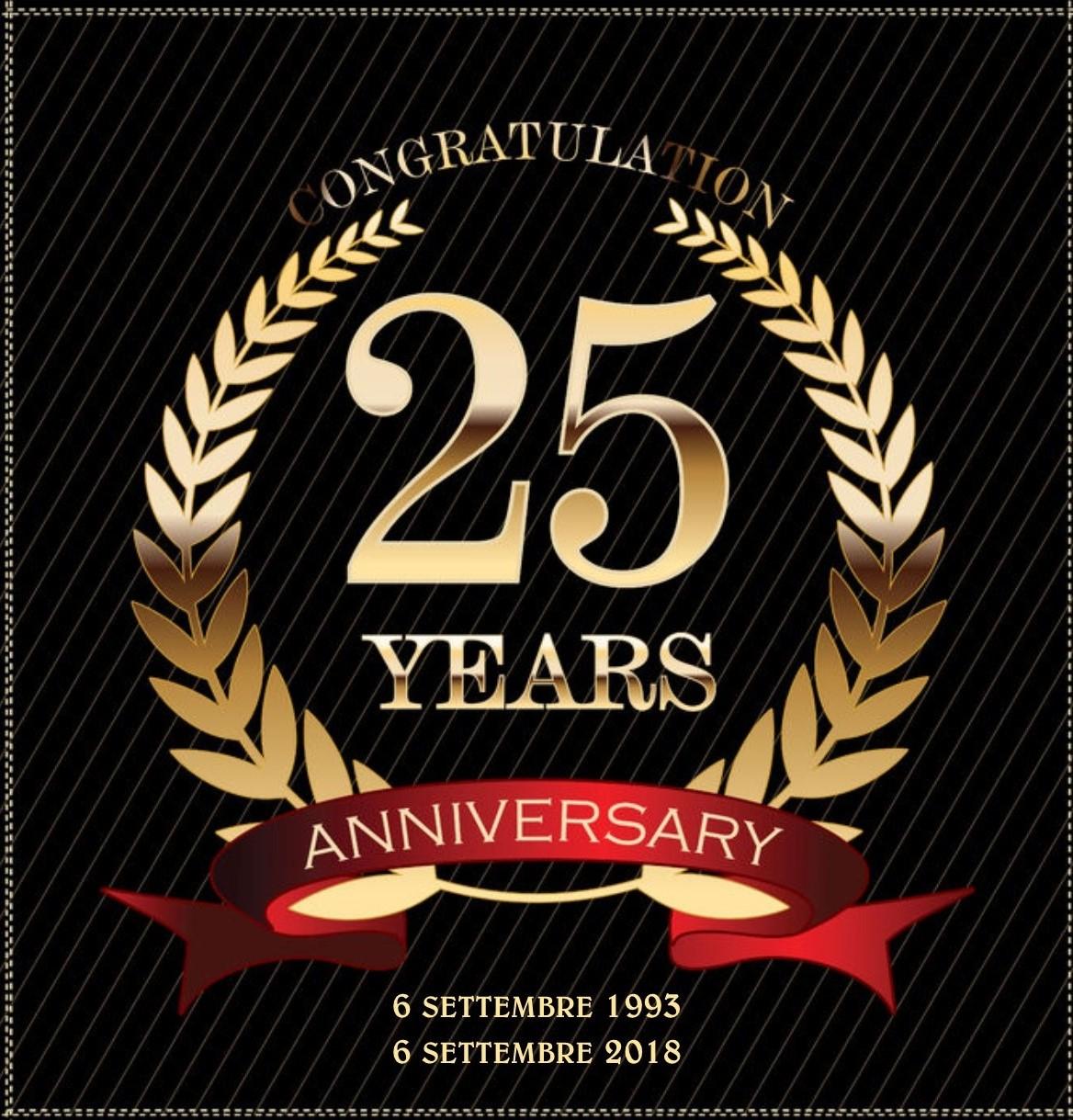 06 settembre 1993 - 06 settembre 2018 25 anni di attività!